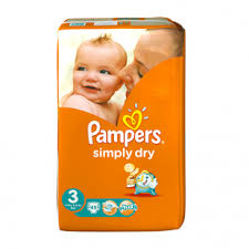 COUCHES SIMPLY DRY TAILLE 3 Pampers