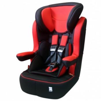 Siège auto SAGA, groupe 1/2/3 rouge et gris de Carrefour