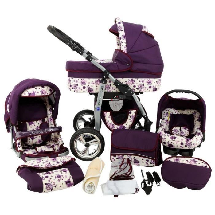 Pack Streety de Bébé Confort est un Trio poussette + siège auto + nacelle