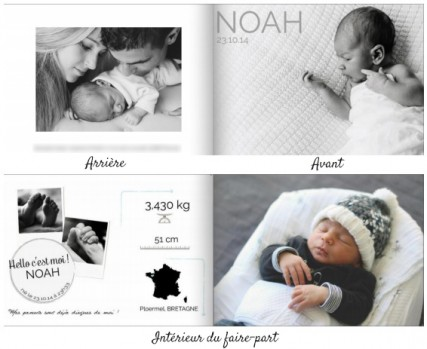 FAIRE-PART NAISSANCE de Planet-cards