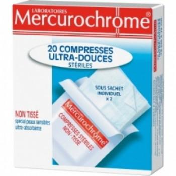 COMPRESSES STÉRILES ULTRA-DOUCES Laboratoires Mercurochrome
